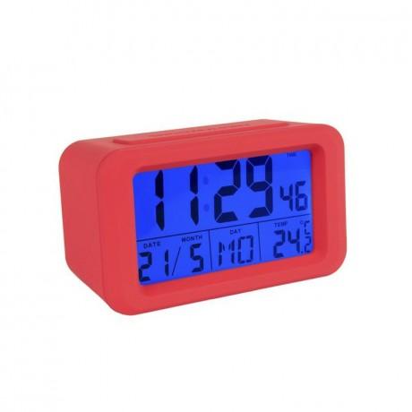 Reloj despertador digital rojo
