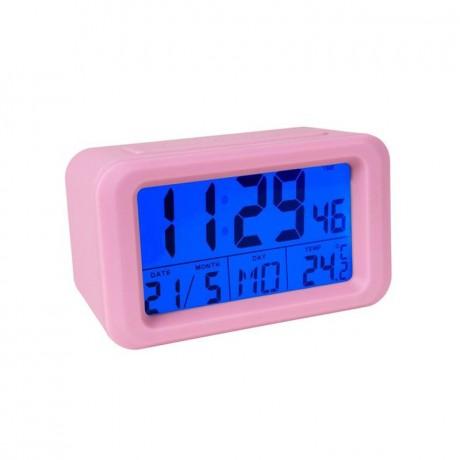 Reloj despertador digital rosa
