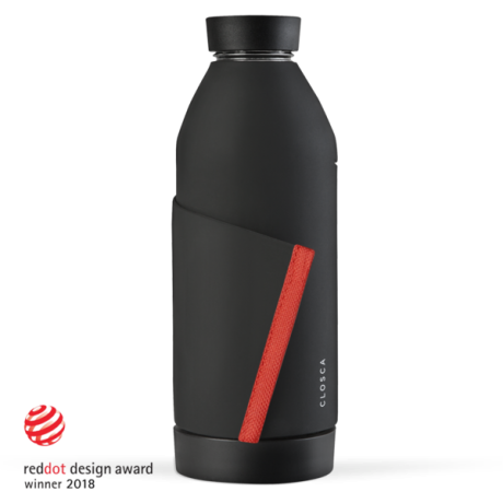 Closca Bottle Black/Coral
