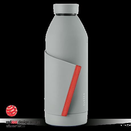 Closca Bottle Grey/Coral