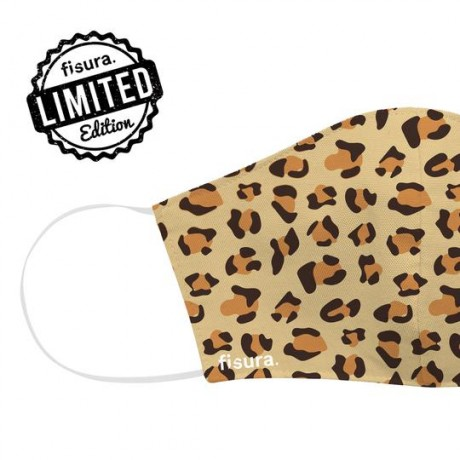 Mascarilla adulto leopardo...