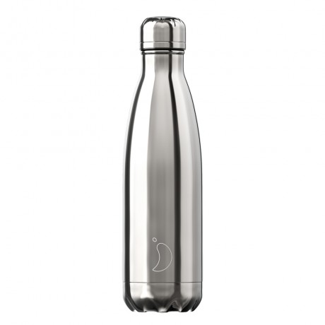 Chillys Bottles Chrome silver