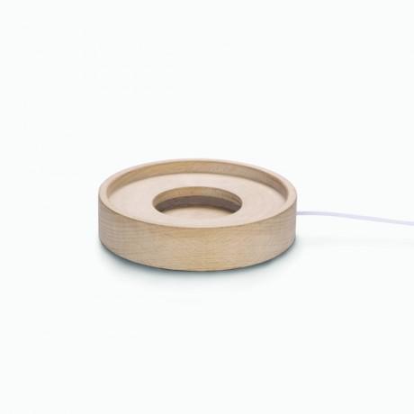 Base de madera circular con...