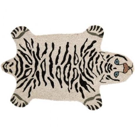 Felpudo tigre blanco