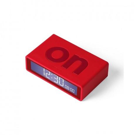 Reloj despertador Flip rojo