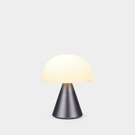 Lámpara Mina M, gris plomo