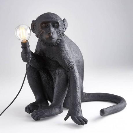 Lámpara Monkey setado negro...