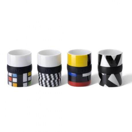 Set de cafe Mondrian x 4