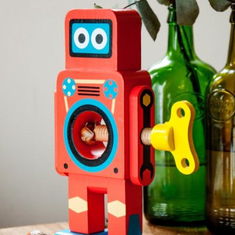 Robot Cascanueces Rojo
